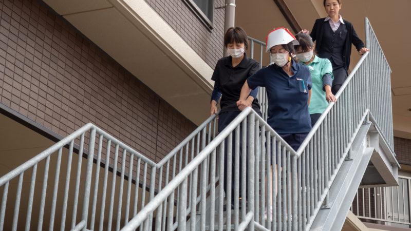特別養護老人ホームうがた苑とグローバルキッズルームうがたが合同で防災総合訓練を行いました!