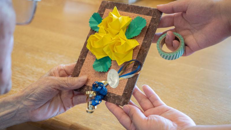 特別養護老人ホームふたみ苑で職員からご利用者へ父の日の贈り物をプレゼント!