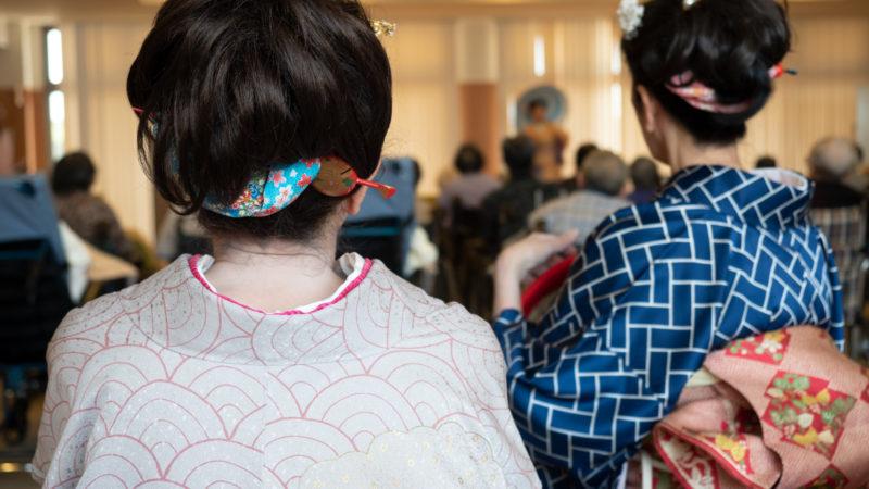 特別養護老人ホームあらしま苑を花柳流青舞会が慰問に来てくださいました!
