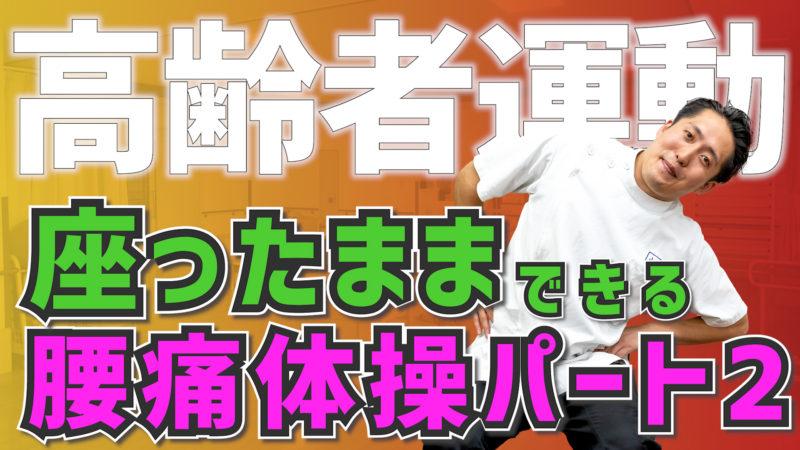【高齢者運動#37】座ったままできる腰痛体操パート2