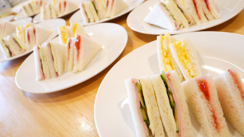 ふたみ苑でリクエストメニュー!サンドイッチとチキンナゲットをご提供しました!