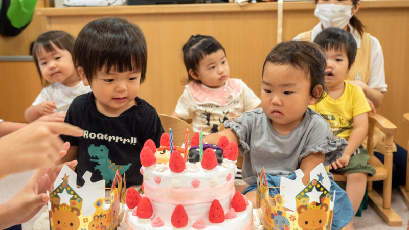 グローバルキッズルームうがたで8月のお誕生日会を開催しました!